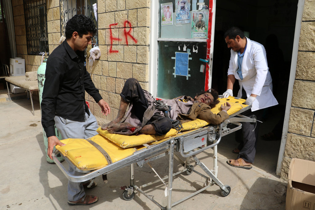 Saudi Coalition Airstrike Hits School Bus in Yemen